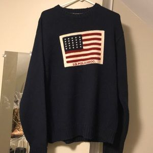 Vintage oversized polo sweater